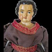 Pretty Paper Mache Greiner Type Antique Doll