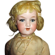 Antique Blond German Bisque Head Doll