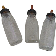 Vintage Glass Baby Doll Bottles