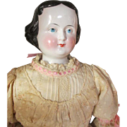 Beautiful Antique China Head Doll in Her Stunning Dress