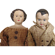 Sweet Pair of Artist Dolls - Perfect for a Primitive Setting
