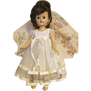 Vintage Brunette Vogue Jill Doll in Bridal Outfit