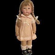 Antique Kathe Kruse  Cloth Faced Doll