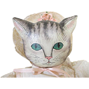 Artist Oil Painted Doll - Cat