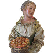 Antique Neapolitan Creche Figure - Terracotta Head, Hands, and Feet