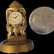 Antique Ormolu Doll House Mantle Clock