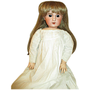 "Angelic 24"" French SFBJ Doll - Arresting Brown Eyes - Gorgeous Dress"