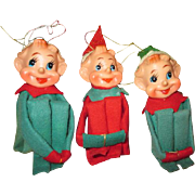 Vintage Christmas Pixie Elves Knee Huggers