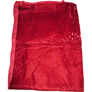 Red Crushed Velvet for Making Doll Clothes