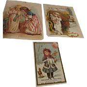Doll and Christmas Related Trade Advertising Cards