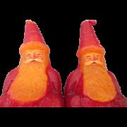 Unusual Primitive Vintage Wax Santa Candles To Display