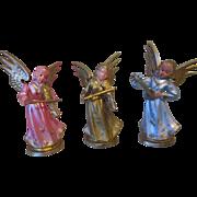 3 Vintage Miniature Angels