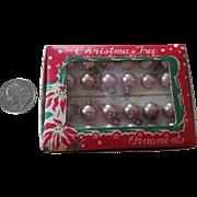 Vintage Tiny 10mm Glass Christmas Bulbs for your Miniature Christmas Tree
