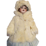Fur Coat and Cap for Your Antique or Vintage Doll