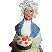 French Santon Doll - Pastry Lady - Perfect for Creche Scene