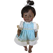 """Cute 12"""" 1964 Horsman African American Baby Doll in Original Clothes"""