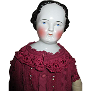 "Large 26"" Early China Head Doll"