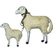 Sweet Putz Sheep for Your Dolls