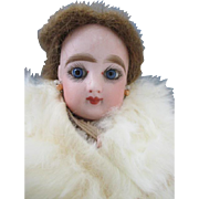Antique French Fashion FG in Scroll Bisque Head Doll