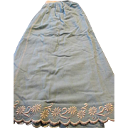 Antique Blue Wool Slip for Making Doll Clothes
