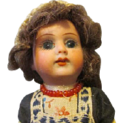 """Darling 5"""" Bisque Head Doll in Original Outfit"""