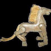 Carved Folk Art Horse for Your Dolls