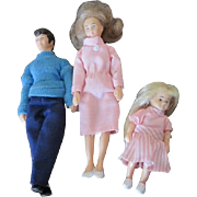 Vintage Rubber Doll House Family