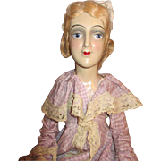 Hold for Lyn ~ Antique Boudoir Doll - Circa 1920's to 1930's