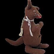 Vintage Wool Toy Kangaroo