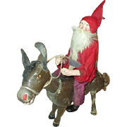 Antique Santa Doll on a Schoenhut Pony