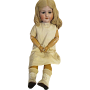 "Sweet 28"" Bisque Head Doll with Human Hair Wig"