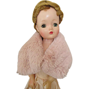 Pink Faux Fur Wrap for your Cissy Doll