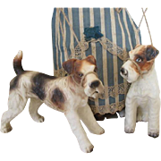 Two Porcelain Dogs for Your French Fashion Doll