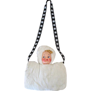 Cute Vintage Doll Faced Hand Muff