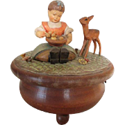 Vintage Swiss Carved Music Box by Anri