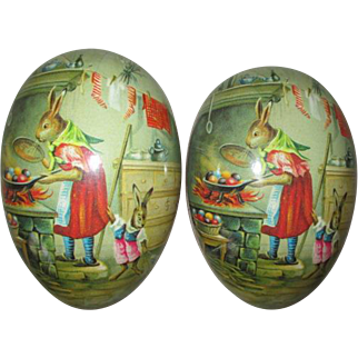 Pretty Papier Mache Egg to Display Your Doll In