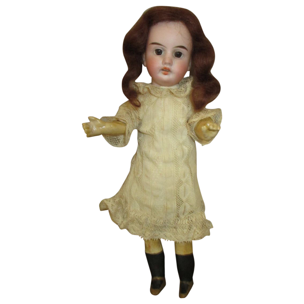 Antique Bisque Head Doll By Gebruder Kuhnlenz From