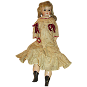 Antique Paper Mache Head Doll - Sweet Look