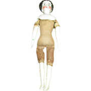 Miniature China Head Doll - Ready to Be Dressed and Play in Your Doll House