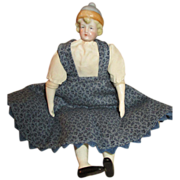Sweet Blue Bonnet Head Doll in Pretty Outfit
