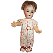 "Tiny 6"" K*R Simon Halbig 126-16 Closed Mouth Bisque Head Doll - Composition Body"