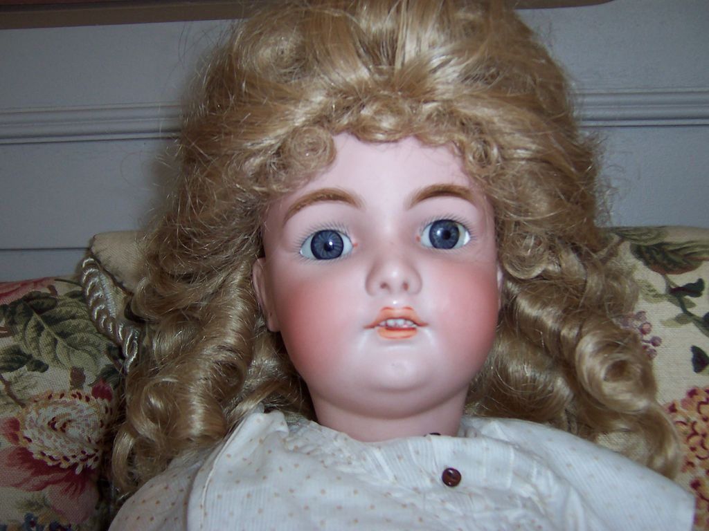 "23"" Simon Halbig/CM Bergmann Bisque Head Doll"
