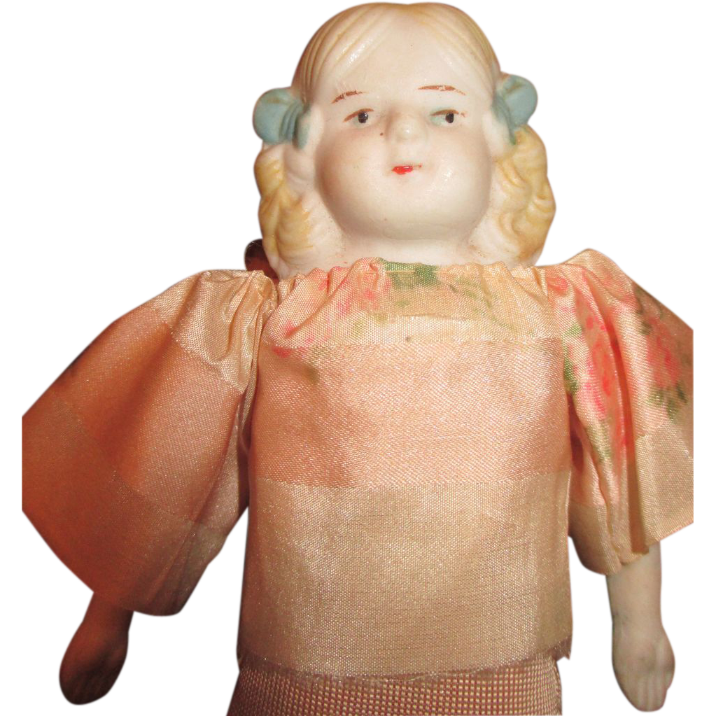 Vintage Nippon Doll House Doll - Bisque Head, Hands and Legs