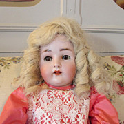 "Sweet 24"" Hertel Schwab Antique Bisque Head Doll"