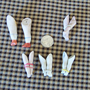 Five Pairs of All Bisque Doll Legs
