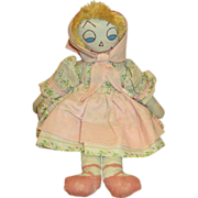 Vintage Cloth Doll with Happy Face
