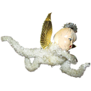 Vintage Chenille Angel with Endearing Face