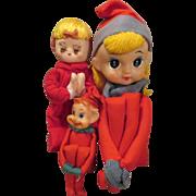 Vintage Christmas Ornaments - Japan - Cute - Elves or Tree Huggers