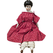 Antique China Doll in Adorable Outfit