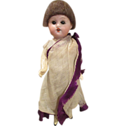 Antique German Herm Steiner Bisque Head Doll in Original Outfit